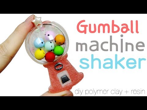 Watch me Resin: How to DIY Gumball Machine Shaker Polymer Clay Resin Tutorial