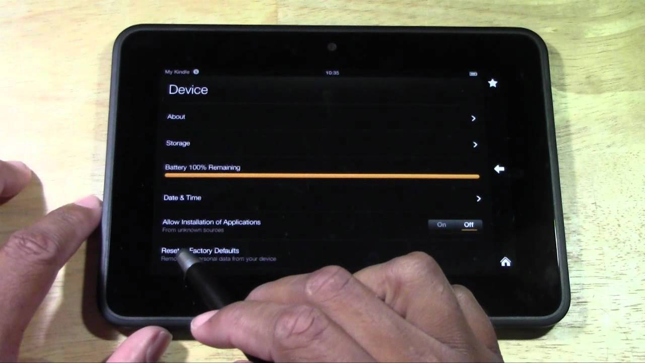 kindle fire hd how to reset back to factory settings rh youtube com Kindle Fire Quick Setting Screen kindle fire manual restart