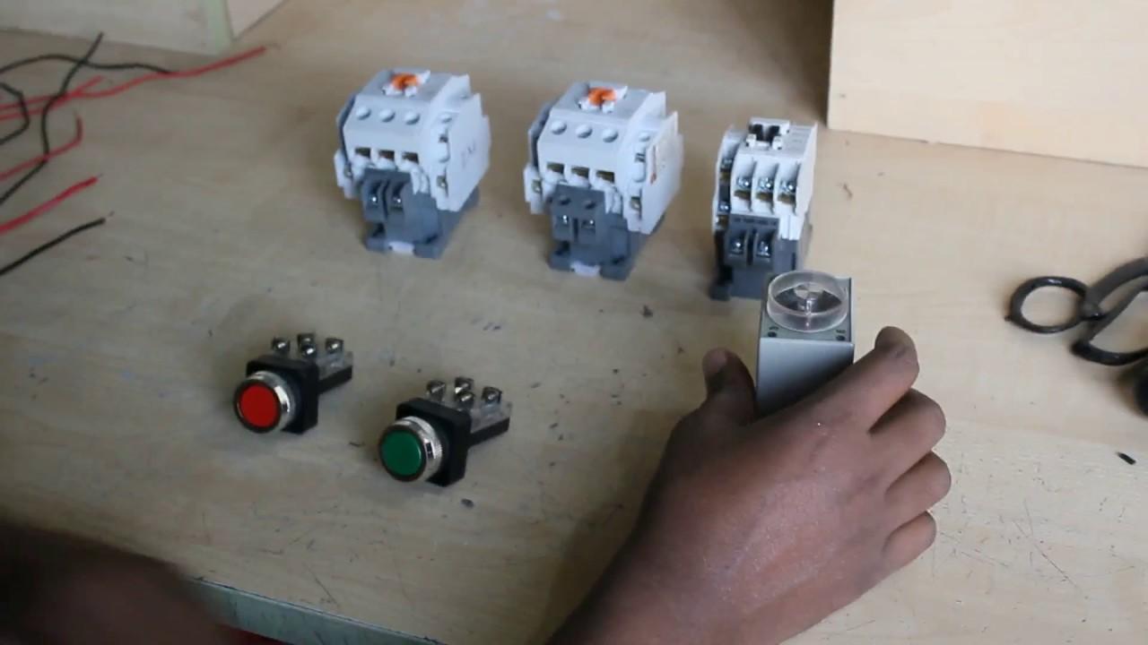 How To Make Auto Star Delta Starter Youtube Wye Motor Wiring Diagram On