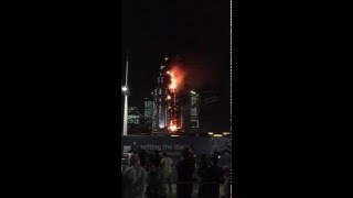 Fire on The Address Downtown / Dubai Mall  #Dubai 2016