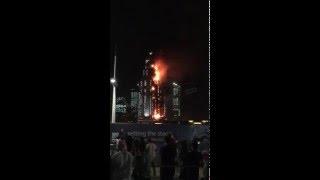 Fire on The Address Downtown / Dubai Mall  #Dubai 2016