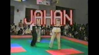 Pakistan Kyokushin (Shin) M. Arshad jan 8th Asian Karate Tournament Jahan vs Khushal   Part 1