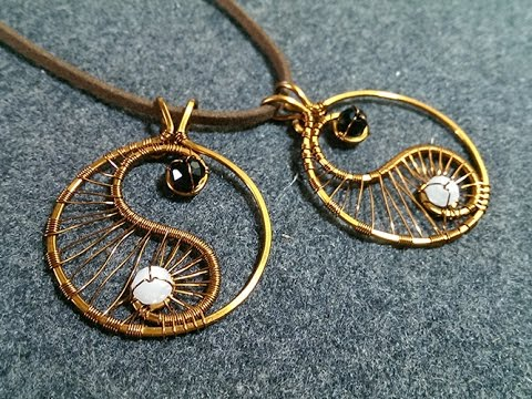 Copper Yin Yang Pendant Wire Wrapping Ideas 8 Youtube
