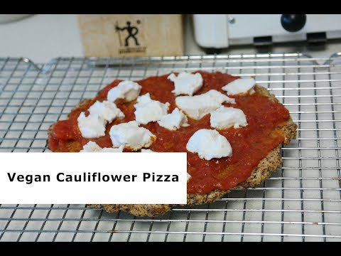 How To Make An EASY HEALTHY CAULIFLOWER VEGAN PIZZA ( ORGANIC )