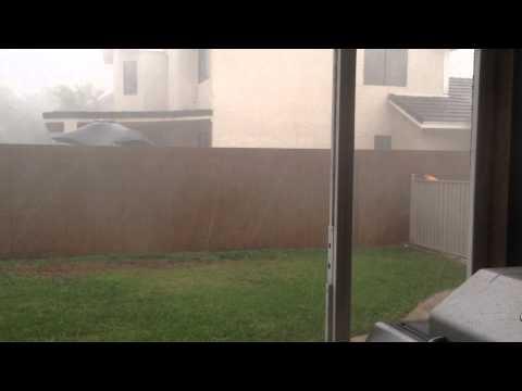 Hail storm in Las Vegas!