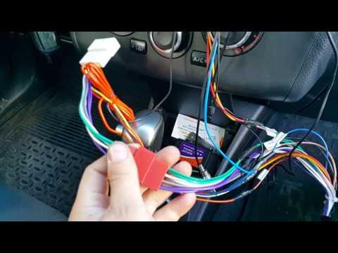 подключение универсальной магнитолы 9 дюймов  Nissan Tiida