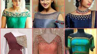 Latest gown neck designs || Long dress neck design and detailing ideas || Gown ke gale ke designs
