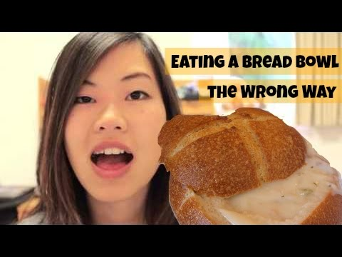 Eating a Bread Bowl the wrong way