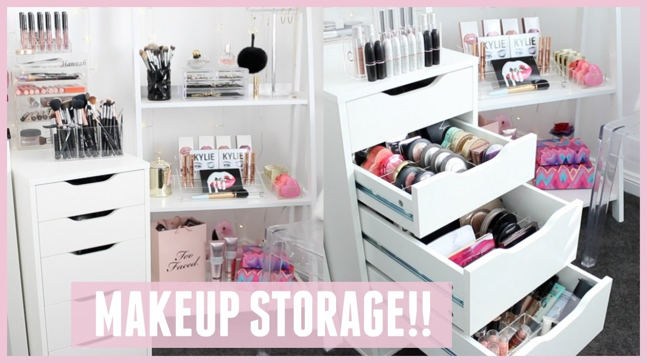 Makeup Storage Amp Organization For Ikea Alex Drawers Pt 2