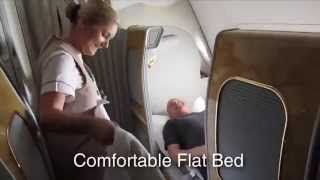 Emirates Airlines A380 First Class Flight To Dubai HD