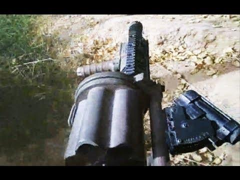 Grenade Launcher Firing on Taliban in Marjah Afghanistan