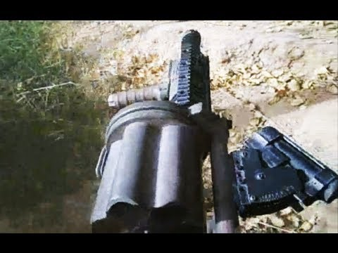 Grenade Launcher Firing on Taliban in Marjah Afghanistan