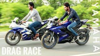 Video DRAG RACE - Yamaha R15 v 3.0 vs r15 v 2.0 | Top Speed | Drag Race on HIGHWAY enjoy it!! download MP3, 3GP, MP4, WEBM, AVI, FLV Oktober 2018