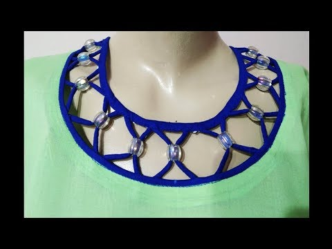 Simple And Stylist Round Dori Neck Design For Kameez/Kurti/Suit Cutting And Stitching