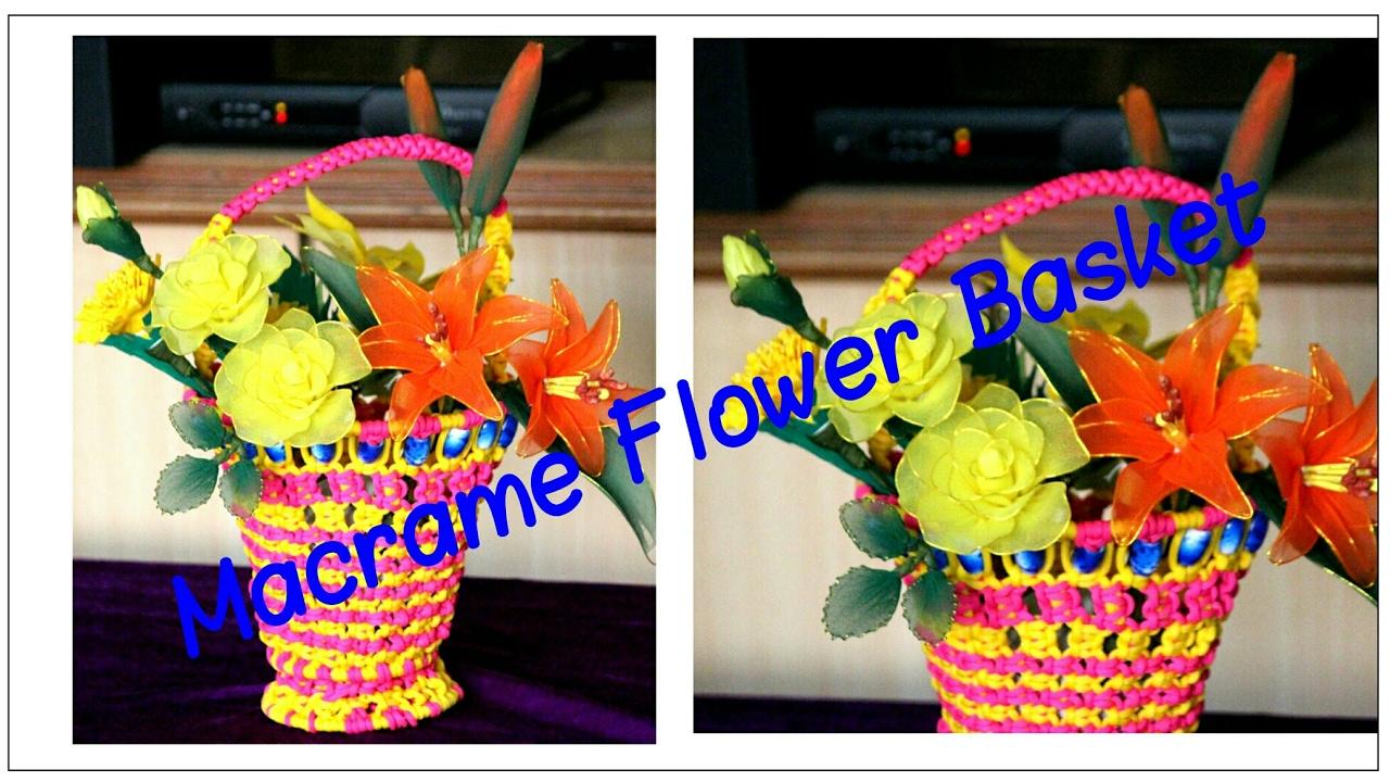 Diy how to make beautiful flower basket very easy to make youtube diy how to make beautiful flower basket very easy to make izmirmasajfo