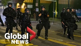 Portland protests: Police declare riot at precinct as protests continue for 69th straight day
