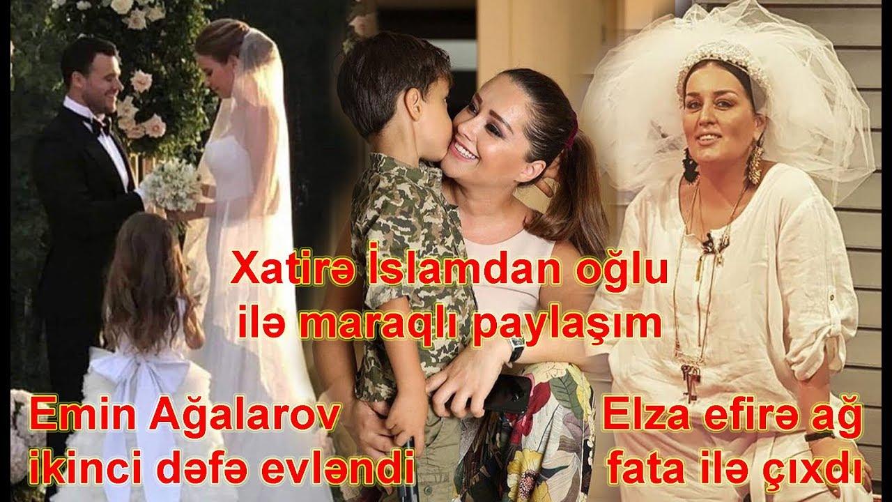 Emin Ağalarov evləndi, Xatirə İslamdan oğlu ilə maraqlı paylaşım, Elza efirə ağ fata ilə çıxdı
