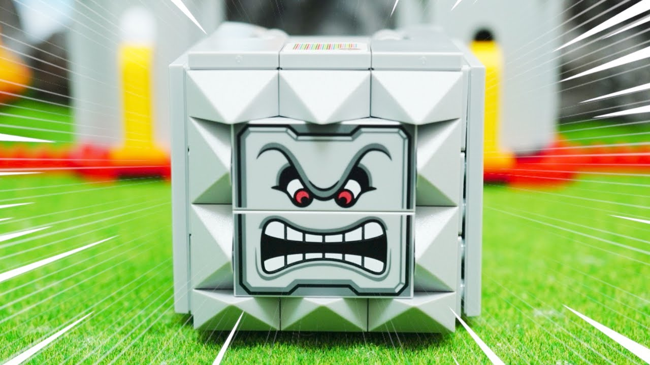 LEGO Super Mario  ASMR summary 2 | レゴ スーパーマリオのドッスン とキングテレサとキラーを組み立てる stop motion anime!