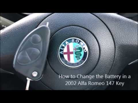 How to Replace the Battery in a Alfa Romeo 147 Key