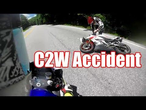 Chase on two wheels crash