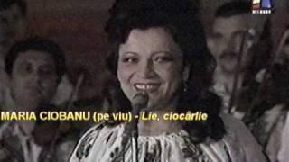 MARIA CIOBANU (pe viu/live) - Lie, ciocârlie (23apr88, TvR) MARIACIOBANU.org