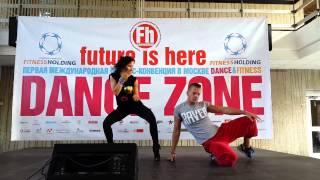 Настя Юрасова и Юрий Бабихин на Фитнес конвенции УК