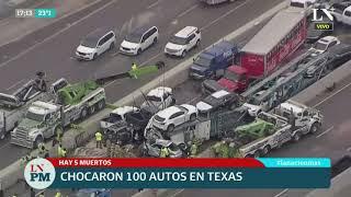 Masivo choque en Texas: 100 autos afectados y al menos cinco personas fallecidas