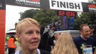 Camilla Andersen efter Copenhagen Half Marathon 2015