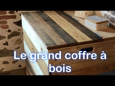 grand coffre bois de chauffage en palette et bois de r cup ration youtube. Black Bedroom Furniture Sets. Home Design Ideas
