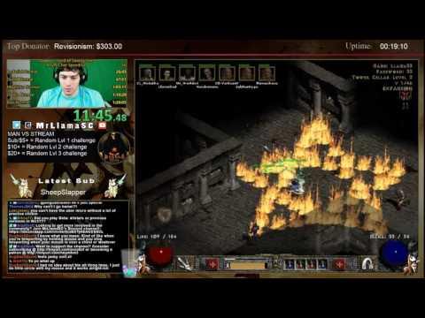 Diablo 2 - 8 Man Any% HC Speedrun AKA ROAST LLAMA DAY -.-