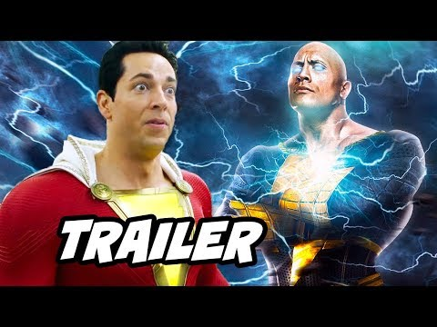 Shazam Trailer - Black Adam Justice League Easter Eggs Breakdown