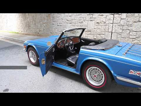 Repeat 1976 Triumph TR6 Tahiti Blue, Restored, for sale by