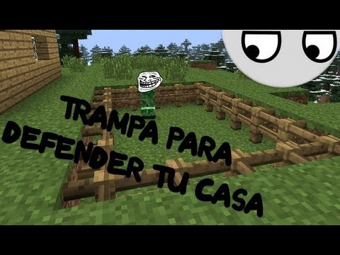 Minecraft trampa para defender tu casa youtube for Todo para tu casa