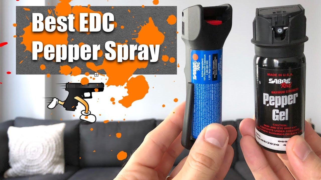 best edc pepper spray sabre mk 6 vs pepper gel youtube