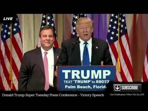 Donald Trump Press Conference Super Tuesday VICTORY SPEECH Palm Beach Florida FULL SPEECH
