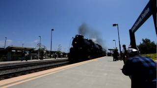 Santa Fe 4-8-4 Steam Locomotive #3751 High Speed Pass in 1080p