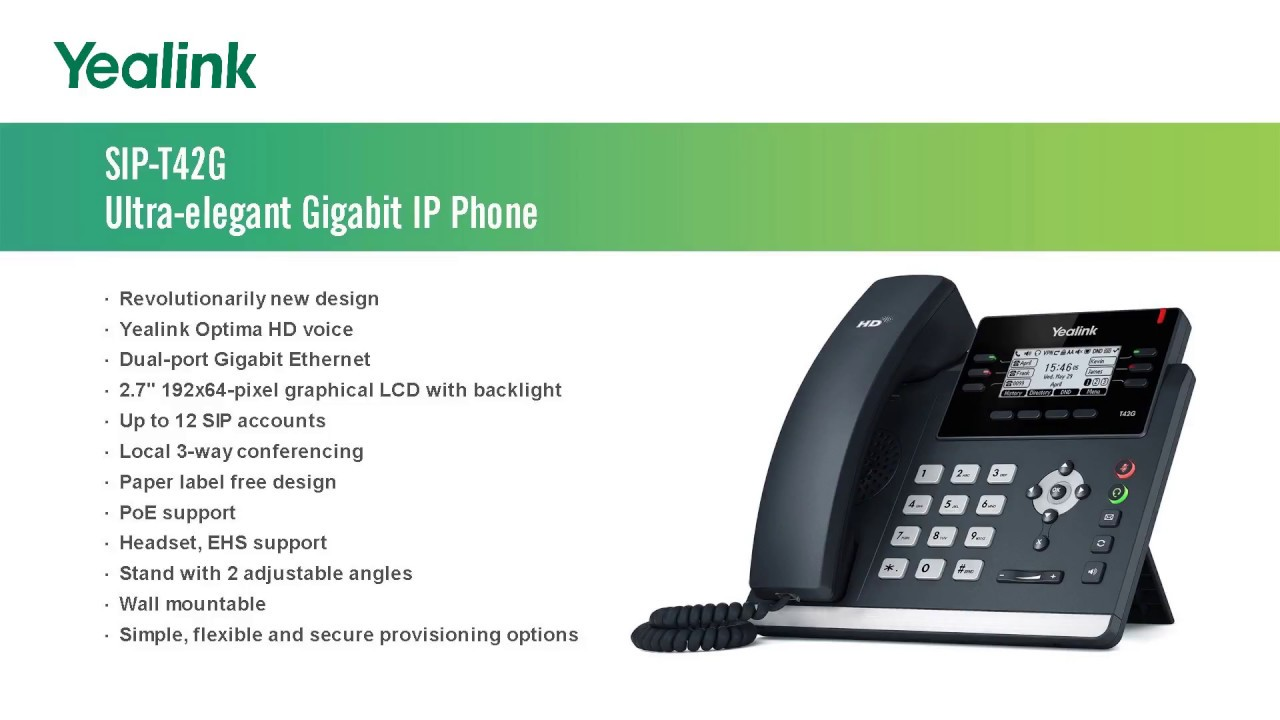 Yealink SIP-T41S | Hospital VoIP Phone | Business Phone | Hotel Phone