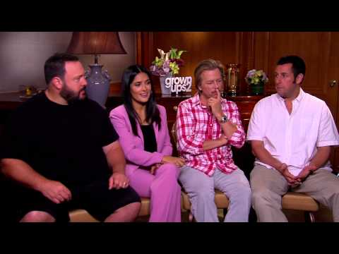 Interview with Adam Sandler & the cast of Grown Ups 2 (HD)