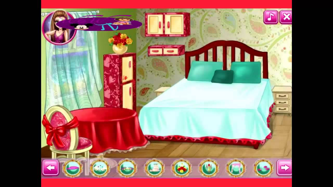 Barbie games wedding room decoration and dress up