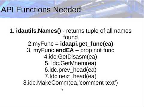 IDAPython Tutorial with example script