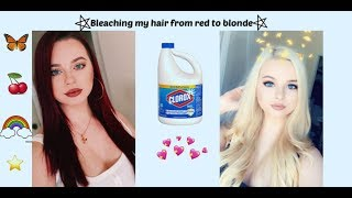 Bleaching my hair during mental breakdown!!!!