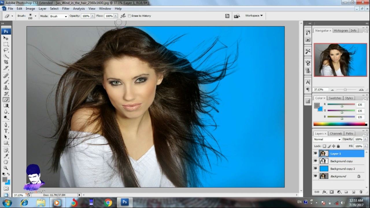 How To Easy Hair Cut Adobe Photoshop Cs10