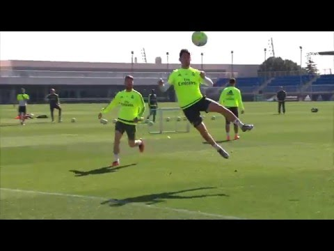 Bale, Isco and Jesé shooting practice