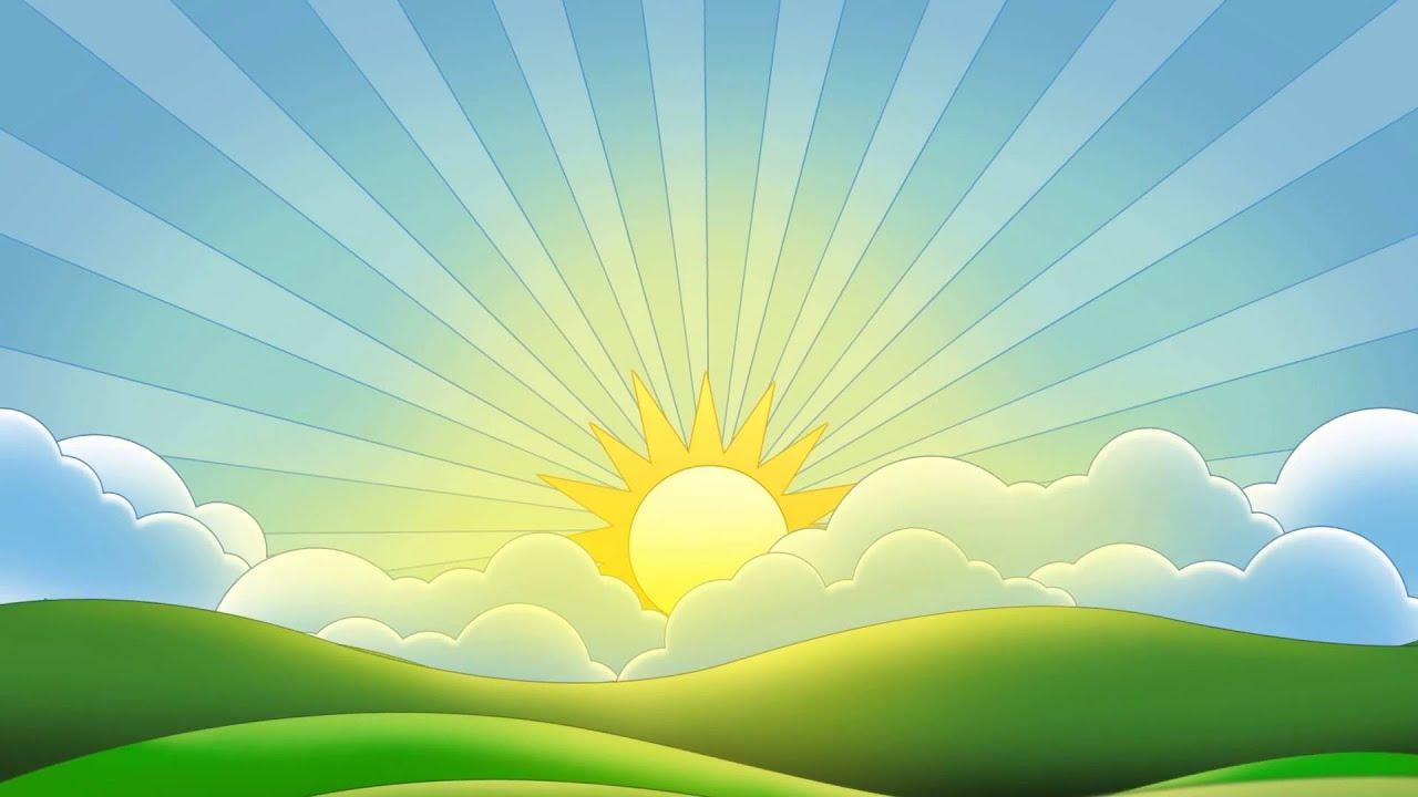 Картинка рассвет для детей, днем