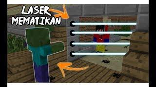 BUAT PINTU LASER MEMATIKAN PALING AMAN DI DUNIA !! - Minecraft Indonesia !!
