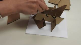 Cardboard sculpture without glue