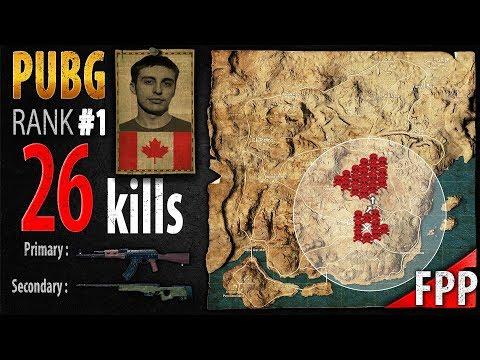 PUBG Rank 1 - Shroud 26 kills [NA] Solo FPP - PLAYERUNKNOWN'S BATTLEGROUNDS