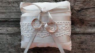 Подушка для колец: свадьба своими руками. Мастер-классы на Подарки.ру