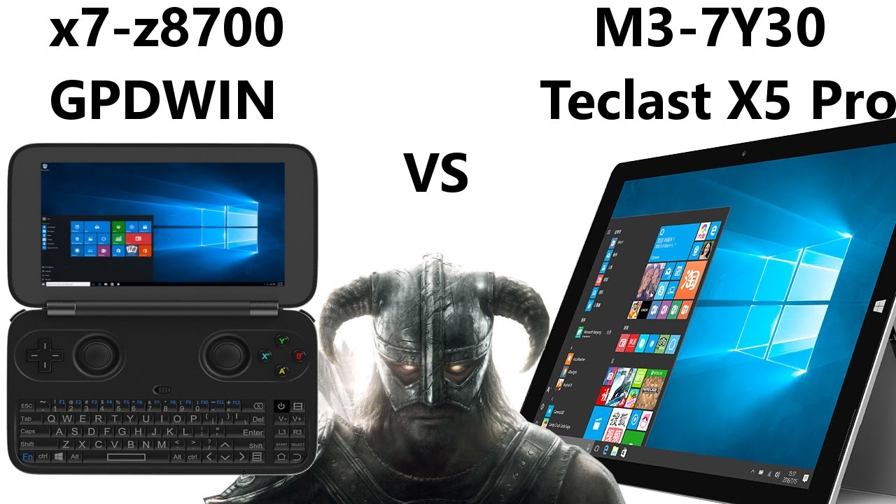 gpd win vs teclast x5 pro skyrim z8700 vs m3 7y30 youtube. Black Bedroom Furniture Sets. Home Design Ideas