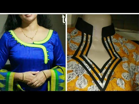 Latest Neck Designs For Kurti Suits And Churidars Top Most Beautiful Neck Designs Ideas 2018 19 Youtube